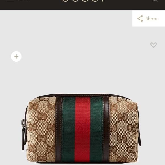 9ea8fd2db09c Gucci Bags   Original Gg Canvas Web Cosmetics Case   Poshmark
